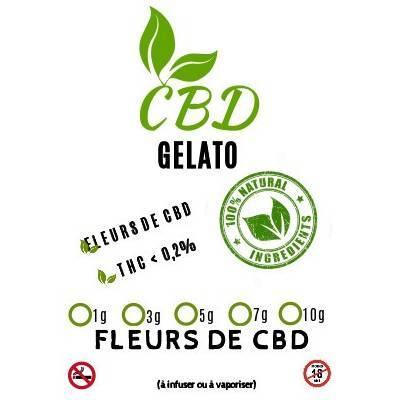 Emballage de Gelato 12,2% - Fleurs de CBD Indoor dispo au meilleur prix sur CBD.fr