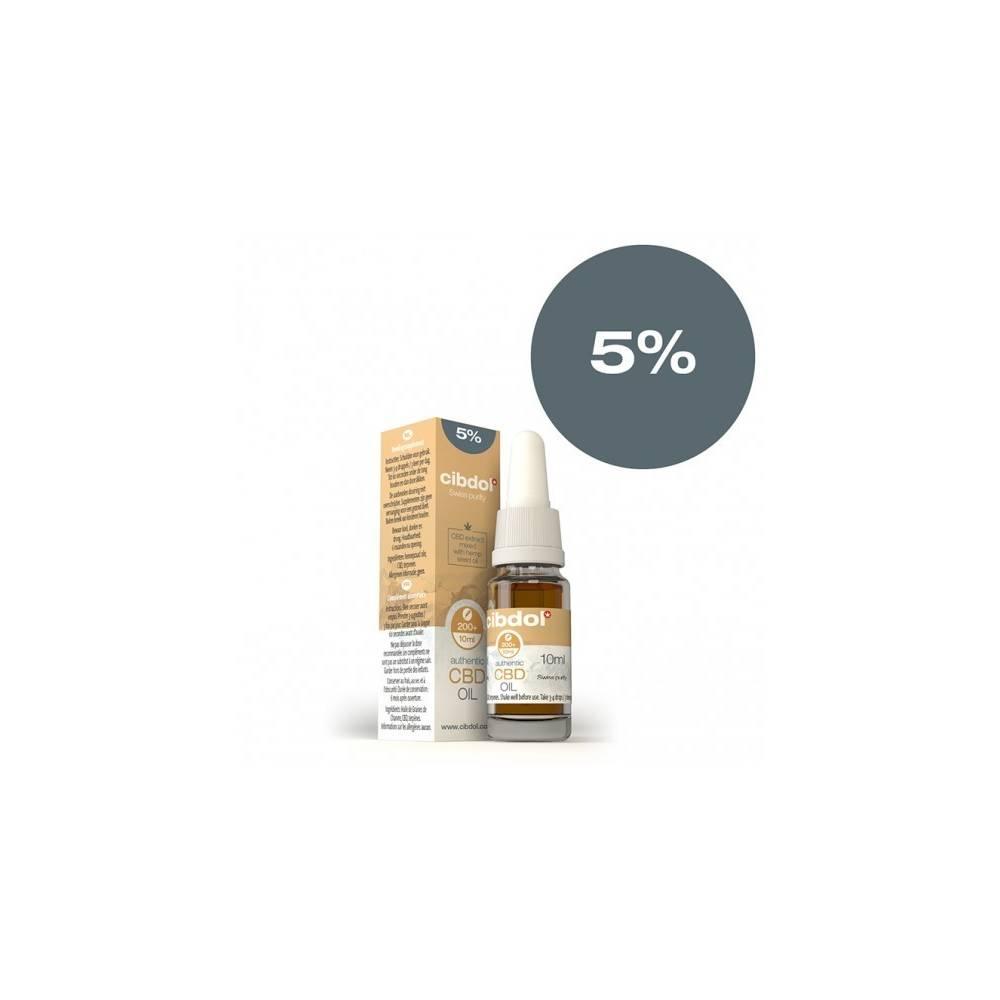 CBD Huile de graines de chanvre 5% (10ml)